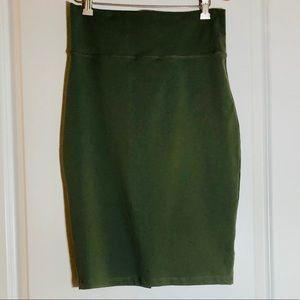 Bebe High-waist Green Pencil Skirt - New!